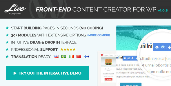 Live Composer - Front-End WordPress Page Builder
