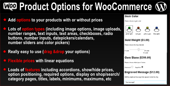 Product Options for WooCommerce