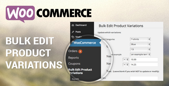 Woocommerce Bulk Edit Product Variations